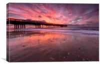 Boscombe Pier Sunrise, Canvas Print