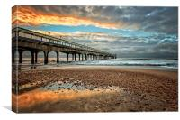 Boscombe Pier HDR Sunrise, Canvas Print