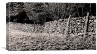 Welsh Dry Stone Wall, Canvas Print