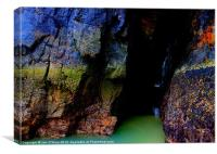 HEBRIDES RAINBOW CAVE OF WATER 3, Canvas Print