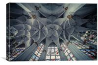 Ceiling (wide angle), Canvas Print