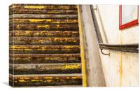 Yellow stairs, Canvas Print