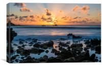 Sunrise Lanzarote, Canvas Print