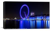 The EDF London Eye At Night, Canvas Print