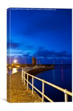Dusk at the Rhenish Tower Lynmouth, Canvas Print