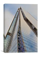 Looking up The Shard, Canvas Print