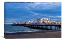 Brighton Pier at dusk, Canvas Print