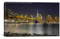 Manhattan from across East River, Canvas Print