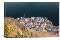 View of Hallstatt from Salzwelten Skywalk, Canvas Print
