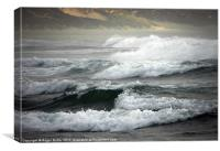 Angry Sea Heralding the Storm, Canvas Print