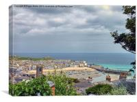 St Ives Shower Approaching, Canvas Print