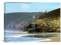 Chapel Porth from Porthtowan, Canvas Print