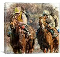 May the best horse win, Canvas Print
