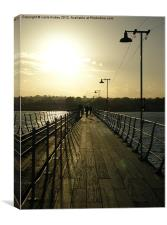 Pier at sunset Hythe, England,, Canvas Print