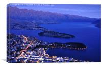 Queenstown at night, Canvas Print