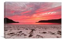 Calgary Bay Sunset, Canvas Print