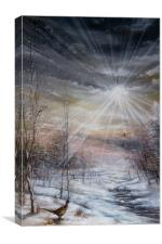 Winter On The Shoot, Canvas Print