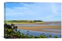 River Taf Estuary, Laugharne, Canvas Print