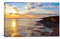 Southerndown Sunset, Canvas Print