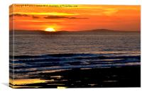 Sunset behind the Gower Peninsula, Canvas Print
