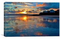 Sunset in Tenby, Canvas Print