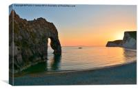 Durdle Door at Sunset, Canvas Print