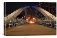 SALFORD QUAYS BRIDGE, Canvas Print