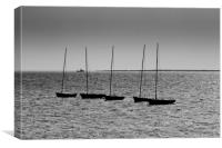 Dinghies off of Leigh Essex, Canvas Print