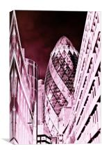 The Gherkin Building London, Canvas Print