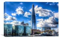 The Shard and South Bank, Canvas Print