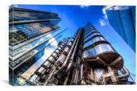 The Lloyd's of London Cheesegrater and Willis Grou, Canvas Print