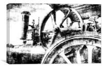 Clayton and Shuttleworth Traction Engine Vintage, Canvas Print