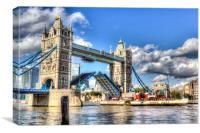 Tower Bridge and the Waverley, Canvas Print