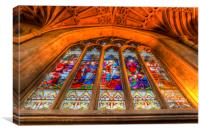 Abbey Stained Glass Window, Canvas Print