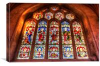 Bath Abbey Stained Glass Window, Canvas Print