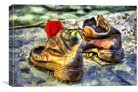 Shoes On The Danube Van Gogh, Canvas Print