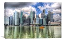 Singapore Marina Bay, Canvas Print