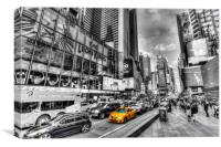 Times Square Yellow Cab, Canvas Print