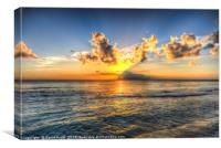 Barbados Sunset, Canvas Print