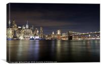 New York At Night, Canvas Print