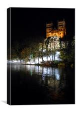 Durham cathedral front in Lumiere , Canvas Print
