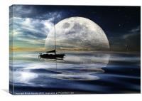 MOONLIGHT REFLECTIONS, Canvas Print