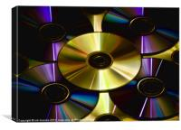CD GLOW, Canvas Print