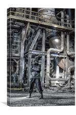 AN INDUSTRIAL STANCE, Canvas Print