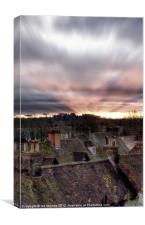 SUNSET OVER ROOF TOPS, Canvas Print