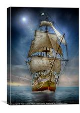NAVIGATING CALM WATERS, Canvas Print