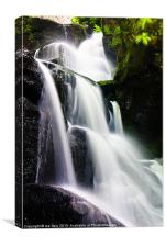 Lumsdale Waterfall., Canvas Print
