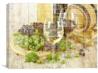 grapes and win, Canvas Print