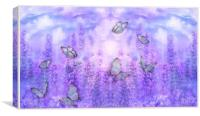 butterflies and flowers, Canvas Print