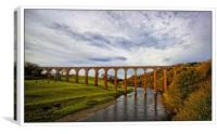 Leaderfoot viaduct over the Tweed, Canvas Print